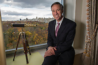 NEW YORK, NY &ndash; NOVEMBER 8, 2013:  CEO of Marriott Hotels, Arne Sorenson photographed at the Ritz Carlton at Central Park. A new brand of Marriott Hotels, Edition Hotel New York, is being installed at Madison Square Park and set to open in 2015. <br /> <br /> Photo &copy; Robert Caplin