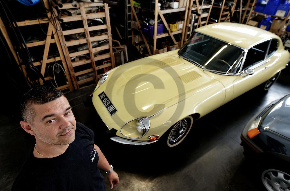 14/06/16 - VICHY - ALLIER - FRANCE - Arnaud GIRAUDET Directeur de AG ENGINE, specialiste Jaguar - Photo Jerome CHABANNE