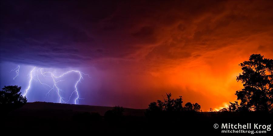 Filename Fire And Ice Lightning Landscape Photo ZASC3520MGB Mitchell Krog Copyright Photography Image Size 900x450 813KB