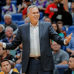 Jan 26, 2018; New Orleans, LA, USA; Houston Rockets head coach Mike D'Antoni against the New Orleans Pelicans during the first quarter at the Smoothie King Center. Mandatory Credit: Derick E. Hingle-USA TODAY Sports