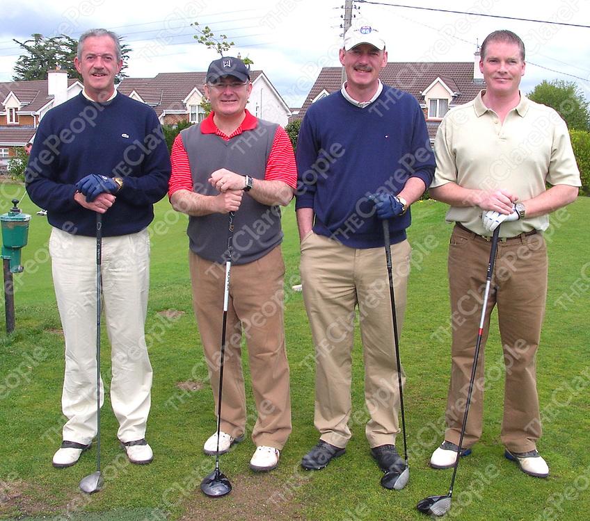 The Michael P. Houlihan & Partners team of Eddie Fitzgibbon, Gerry Flynn, Jarlath Fahy and Padraic McNicholas who won the Ennis Chamber of Commerce Golf Classic.