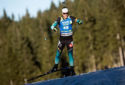 Antonin Guigonnat (FRA) in action during the Men 10km Sprint at day 6 of IBU Biathlon World Cup 2018/19 Pokljuka, on December 7, 2018 in Rudno polje, Pokljuka, Pokljuka, Slovenia. Photo by Vid Ponikvar / Sportida