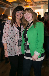Repro Free: 26 September 2013<br /> Ciara Harlow and Lisa Marner pictured at the Guinness Storehouse, celebrating talent and creativity on Arthur's Day 2013. Picture Andres Poveda