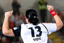 Urska Vidic of Krim celebrates at handball match of Round 2 of Champions League between RK Krim Mercator and Aalborg DH, on October 31, 2009, in Arena Kodeljevo, Ljubljana, Slovenia.  Krim won 30:23. (Photo by Vid Ponikvar / Sportida)