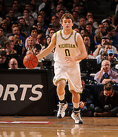 Michigan guard Zack Novak #0 as the Duke Blue Devils beat the Michigan Wolverines, 71-56, to win the championship of the 2K Sports Classic benefiting Coaches vs. Cancer on Friday, November 21, 2008 at Madison Square Garden.