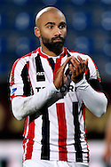 Onderwerp/Subject: Willem II - Eredivisie<br /> Reklame:  <br /> Club/Team/Country: <br /> Seizoen/Season: 2014/2015<br /> FOTO/PHOTO: Samuel ARMENTEROS of Willem II thanking supporters after the match. (Photo by PICS UNITED)<br /> <br /> Trefwoorden/Keywords: <br /> #09 $64 &plusmn;1401974349562<br /> Photo- &amp; Copyrights &copy; PICS UNITED <br /> P.O. Box 7164 - 5605 BE  EINDHOVEN (THE NETHERLANDS) <br /> Phone +31 (0)40 296 28 00 <br /> Fax +31 (0) 40 248 47 43 <br /> http://www.pics-united.com <br /> e-mail : sales@pics-united.com (If you would like to raise any issues regarding any aspects of products / service of PICS UNITED) or <br /> e-mail : sales@pics-united.com   <br /> <br /> ATTENTIE: <br /> Publicatie ook bij aanbieding door derden is slechts toegestaan na verkregen toestemming van Pics United. <br /> VOLLEDIGE NAAMSVERMELDING IS VERPLICHT! (&copy; PICS UNITED/Naam Fotograaf, zie veld 4 van de bestandsinfo 'credits') <br /> ATTENTION:  <br /> &copy; Pics United. Reproduction/publication of this photo by any parties is only permitted after authorisation is sought and obtained from  PICS UNITED- THE NETHERLANDS