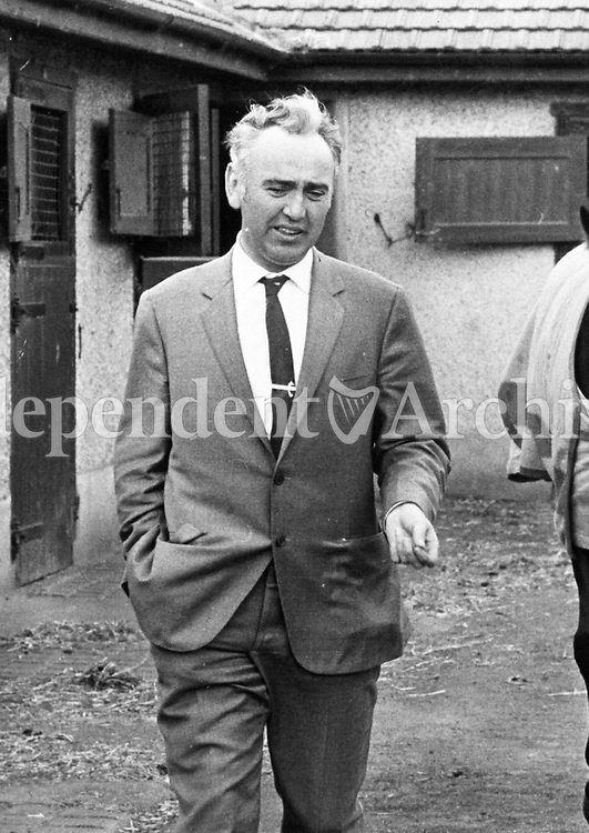 Horse Trainer Seamus McGrath, 21/10/1969. (Part of the Independent Newspapers Ireland/NLI Collection)