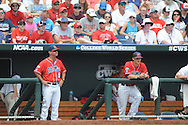 Mississippi head coach Mike Bianco vs. Texas Tech at T.D. Ameritrade Park in the College World Series in Omaha, Neb. on Tuesday, June 17, 2014. Ole Miss won 2-1.