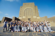 A mixed school class visiting Voortrekker Monument.