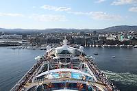 Royal Caribbean International's  Independence of the Seas, the world's largest cruise ship..Independence leaving Oslo.
