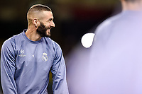 Karim Benzema of Real Madrid during the training session ahead the UEFA Champions League Final between Real Madrid and Juventus at the National Stadium of Wales, Cardiff, Wales on 2 June 2017. Photo by Giuseppe Maffia.<br /> Giuseppe Maffia/UK Sports Pics Ltd/Alterphotos