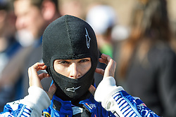 FONTANA, CA - MAR 20 NASCAR Driver Danica Patrick gets ready for NASCAR Sprint Cup qualifiying for Sunday's race the Auto Club 400  in Fontana, CA, USA. Danica fisnished 10th in practice 1 today, and 22nd in qualifying. 2015 Mar 20. Byline, credit, TV usage, web usage or linkback must read SILVEXPHOTO.COM. Failure to byline correctly will incur double the agreed fee. Tel: +1 714 504 6870.