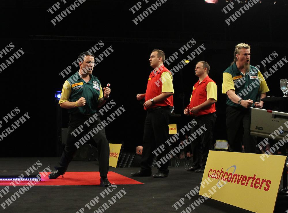 CASH CONVERTERS WORLD CUP OF DARTS 2012, QUATER FINALS, AUSTRALIA,BELGIUM,SIMON WHITLOCK,PAUL NICHOLSON,KIM HUYBRECHTS,KURT VAN DE RIJCK