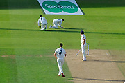 Wicket - Jonny Bairstow of England is caughy by Steve Smith of Australia off the bowling of Mitchell Marsh of Australia during the 5th International Test Match 2019 match between England and Australia at the Oval, London, United Kingdom on 14 September 2019.