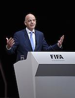 Fussball International Ausserordentlicher FIFA Kongress 2016 im Hallenstadion in Zuerich 26.02.2016 JUBEL neuer FIFA Praesident Gianni Infantino (Schweiz)