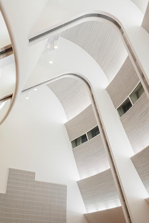 Aalto University campus Undergraduate Centre designed by Alvar Aalto in Espoo, Finland. Restoration designed by NRT architects.