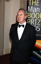 Writer JOHN BANVILLE winner the 2005 Man Booker Prize  at a dinner to announce the 2005 Man Booker Prize held at The Guilhall, City of London on 10th October 2005.<br />