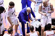 Buscaglia Maurizio<br /> Grissin Bon Reggio Emilia - Allianz Pallacanestro Trieste<br /> Lega Basket Serie A 2019/2020<br /> Pesaro, 15/12/2019<br /> Foto A.Giberti / Ciamillo - Castoria