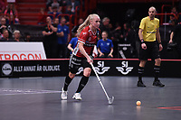 2019-04-27 | Stockholm, Sweden: Kais Mora IF (8) Malin Lundquist during the game between KAIS Mora IF and Täby FC IBK at Ericsson Globe Arena ( Photo by: Simon Holmgren | Swe Press Photo )<br /> <br /> Keywords: Ericsson Globe Arena, Stockholm, Floorball, SM-Final, KAIS Mora IF, Täby FC IBK