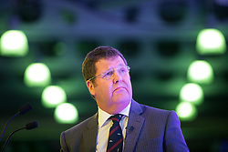 © Licensed to London News Pictures . 25/09/2015 . Doncaster , UK . MIKE HOOKEM MEP at the 2015 UKIP Party Conference at Doncaster Racecourse , this morning (Friday 25th September 2015) . Photo credit : Joel Goodman/LNP