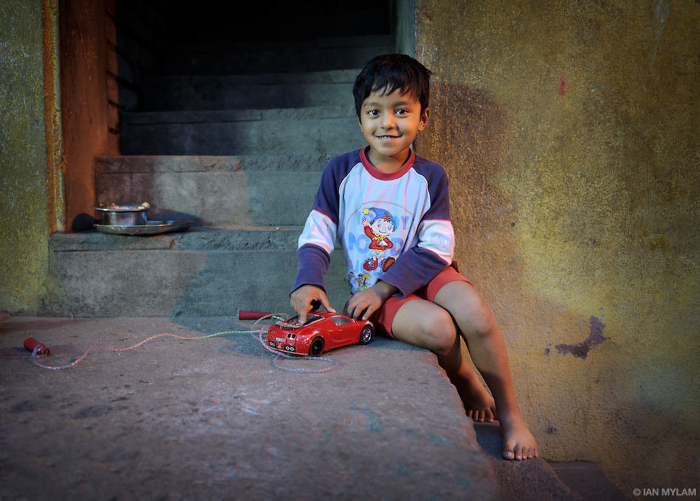 Boy with a Red Car - Chennai, India