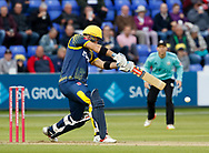 Glamorgan's Colin Ingram<br /> <br /> Photographer Simon King/Replay Images<br /> <br /> Vitality Blast T20 - Round 14 - Glamorgan v Surrey - Friday 17th August 2018 - Sophia Gardens - Cardiff<br /> <br /> World Copyright &copy; Replay Images . All rights reserved. info@replayimages.co.uk - http://replayimages.co.uk