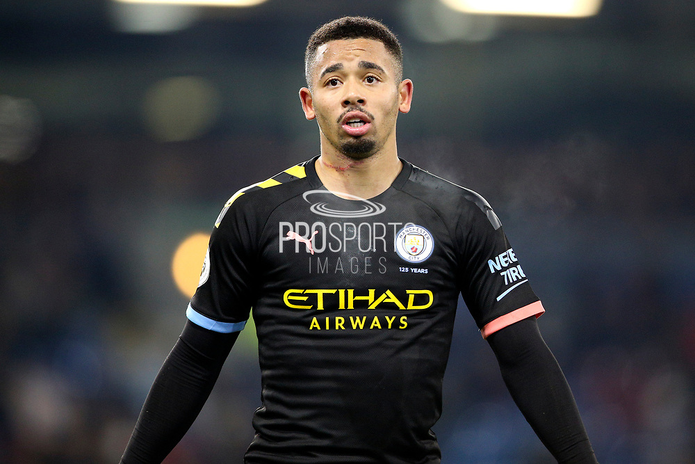 Manchester City forward Gabriel Jesus (9) during the Premier League match between Burnley and Manchester City at Turf Moor, Burnley, England on 3 December 2019.