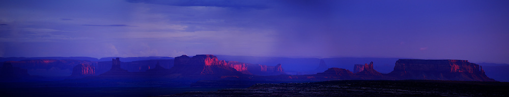 Monument Valley at sunset. panorama