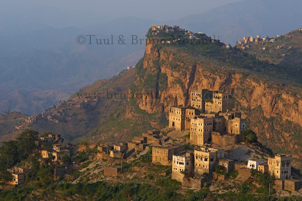 Yemen, région des Hauts Plateaux, village Bat Al Jaray, region de Al Mahwit // Yemen, central mountains, Al Jaray village, Al Mahwit region.
