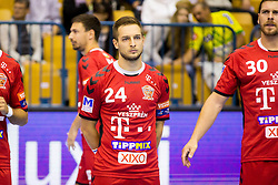 Gasper Marguc of Telekom Veszprem HC during handball match between RK Celje Pivovarna Lasko and Telekom Veszprem in 1st round of VELUX EHF Champions League, on September 16, 2017 in Arena Zlatorog, Celje, Slovenia. Photo by Ziga Zupan / Sportida