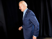 01 MAY 2019 - IOWA CITY, IOWA:  Former Vice President JOE BIDEN walks into his campaign event in Iowa City. Biden is running to be the Democratic nominee for the US Presidency in 2020. He is campaigning in Iowa City and Des Moines today. Iowa traditionally hosts the the first selection event of the presidential election cycle. The Iowa Caucuses will be on Feb. 3, 2020.              PHOTO BY JACK KURTZ