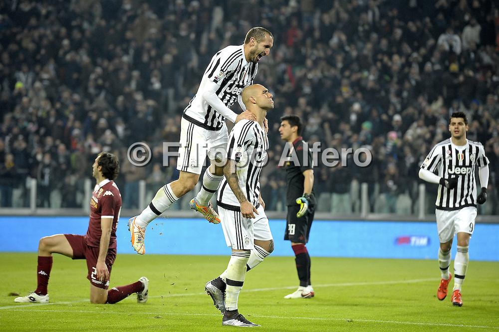 &copy; Filippo Alfero<br /> Juventus-Torino, derby, Coppa Italia 2015/2016<br /> Torino, 16/12/2015<br /> sport calcio<br /> Nella foto: