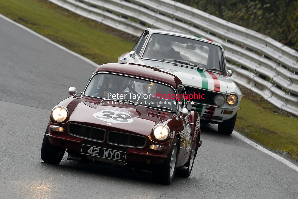 #38 Devlin / Hudson Reliant Sabre 6 2689 during the CSCC Adams and Page Swinging Sixties at Oulton Park, Little Budworth, Cheshire, United Kingdom. October 15 2016. World Copyright Peter Taylor/PSP. <br /> Copy of publication required for printed pictures.  Every used picture is fee-liable. http://archive.petertaylor-photographic.co.uk