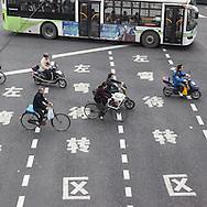 China, Shanghai. Shanghai railway station district