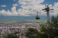 CIUDAD DE SALTA Y TELEFERICO DDE. EL CERRO SAN BERNARDO, PROV. DE SALTA, ARGENTINA
