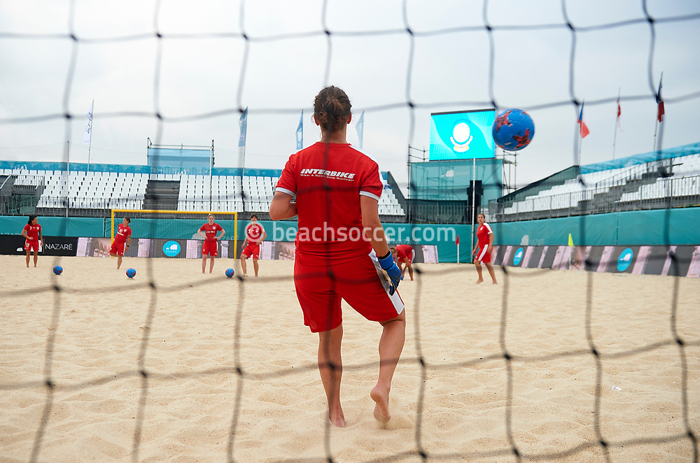 NAZARE, PORTUGAL - JULY 06:  Euro Beach Soccer League Nazare 2017 at Praia Norte on July 06, 2017 in Nazare, Portugal. (Photo by Manuel Queimadelos)