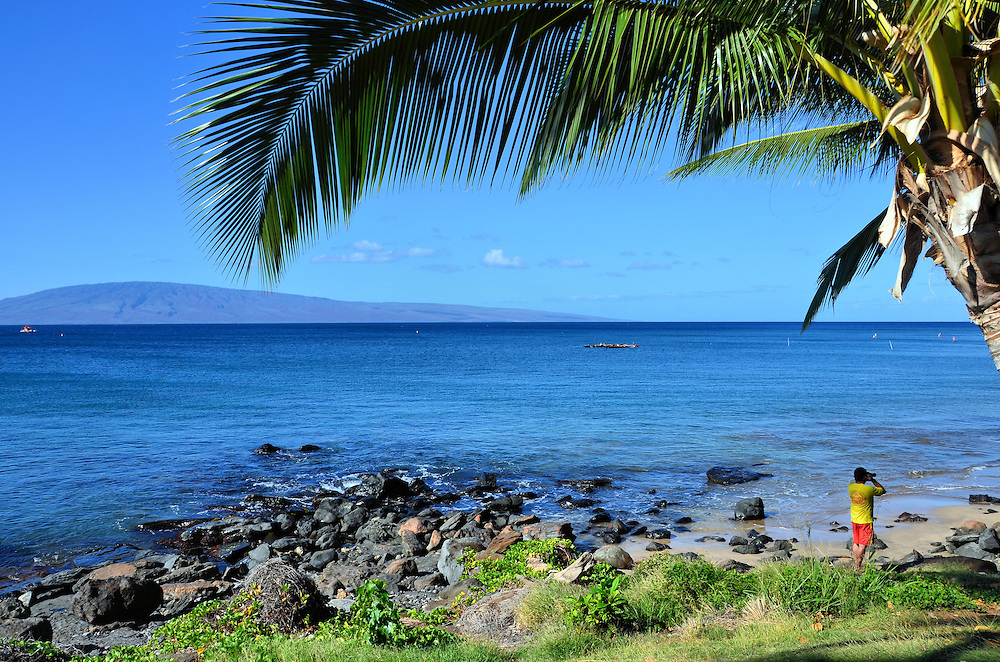 Hanakao&rsquo;o Beach Park&rsquo;s Canoe Beach in Lahaina on Maui, Hawaii <br />