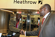 Part of Team Togo arriving to London Heathrow on the 17th of July 2012