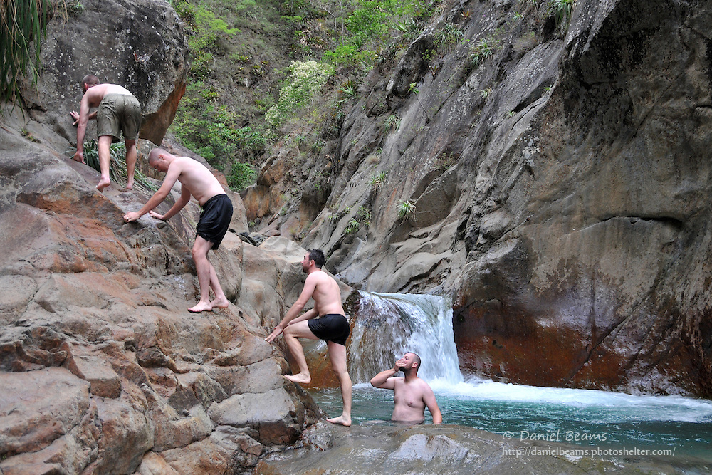 Cool swimming hole in stream near Consata, Bolivia