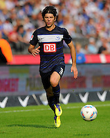 17. September 2011: Berlin, Olympiastadion: Fussball 1. Bundesliga, 6. Spieltag: Hertha BSC - FC Augsburg: Berlins Levan Kobiashvili am Ball.