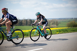 Annabel Simpson (GBR) of Drops Cycling Team on the uncategorised climb of the short lap during the second, 110.1km road race stage of Elsy Jacobs - a stage race in Luxembourg in Garnich on May 1, 2016.