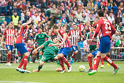 02.04.2016, Estadio San Mames, Bilbao, ESP, Primera Division, Athletic Club vs Real Betis, 31. Runde, im Bild Atletico de Madrid's Juanfran Torres, Nacho and Koke Resurrecccion and Real Betis's R. Castro // during the Spanish Primera Division 31th round match between Athletic Club and Real Betis at the Estadio San Mames in Bilbao, Spain on 2016/04/02. EXPA Pictures © 2016, PhotoCredit: EXPA/ Alterphotos/ Borja B.Hojas<br /> <br /> *****ATTENTION - OUT of ESP, SUI*****