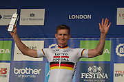 Andre Greipel of Germany and Lotto Soudal wins the overall Combatively award during the Tour of Britain 2016 stage 8 , London, United Kingdom on 11 September 2016. Photo by Martin Cole.