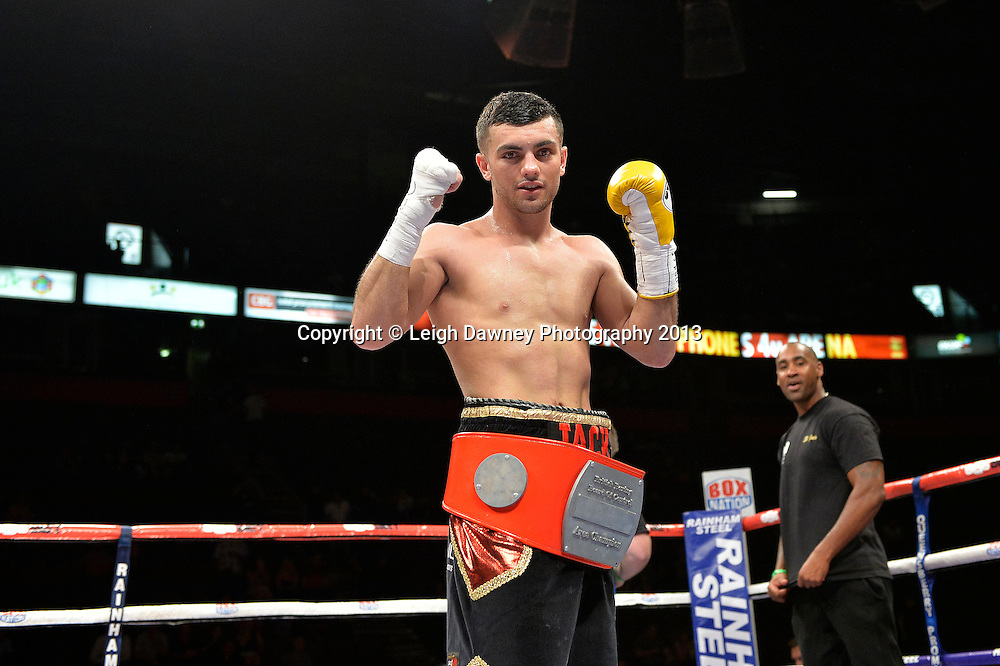 Jack Catterall defeats Nathan Brough for the Central Area Light Welterweight Title on 26th July 2014 at the Phones 4U Arena, Manchester. Promoted by Frank Warren. © Credit: Leigh Dawney Photography.
