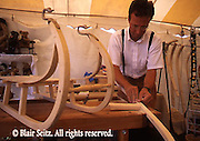Kutztown PA Dutch Festival, Berks Co PA, Crafts Sled Making Woodwork Demonstration