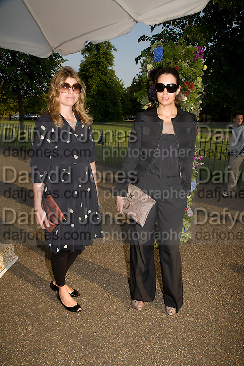 VIVIA FERRAGAMO AND PATRICIA SANCHU, The London Magazine party to celebrate the New London Season and the TLM award for the Best-Dressed Man and Woman. Serpentine Gallery. 21 May 2008.  *** Local Caption *** -DO NOT ARCHIVE-© Copyright Photograph by Dafydd Jones. 248 Clapham Rd. London SW9 0PZ. Tel 0207 820 0771. www.dafjones.com.