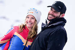 January 19, 2018 - Cortina D'Ampezzo, Dolimites, Italy - Julia Mancuso of United States of America and her husband Dylan Fish at the Cortina d'Ampezzo FIS World Cup where julia finished her professional skiing career in Cortina d'Ampezzo, Italy on January 19, 2018. (Credit Image: © Rok Rakun/Pacific Press via ZUMA Wire)