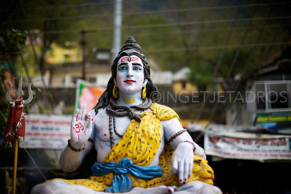 Religious statue in Risjikesh | India