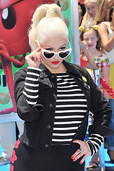 "Christina Aguilera arrives at ""The Emoji Movie"" Los Angeles Premiere held at Regency Village Theatre in Westwood, CA on Sunday, July 23, 2017. (Photo By Sthanlee B. Mirador) *** Please Use Credit from Credit Field ***"
