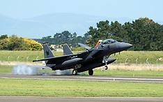Ohakea-Singaporean F15s land for Airforce Tattoo